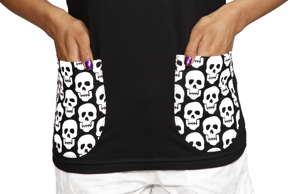 Sew Creepy ® Racerback with Skull Pockets by Beaks of Eagles