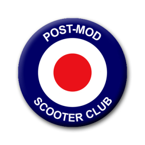 Post-Mod Scooter Club Button