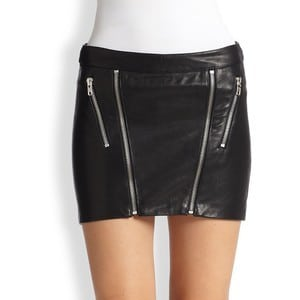 Exposed Zipper Skirt by Michelle Mason