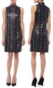 Michael Kors-Leather-Grommet-Moto-Shift-Dress