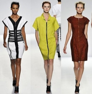 Narcisco Rodriguez - Spring 2009 - Exposed Zipper Dresses