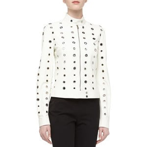 Michael Kors - Leather Top with Grommets