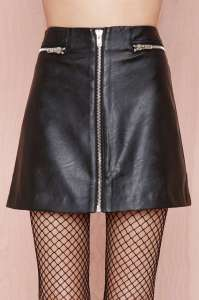 Exposed Zipper Skirt by Nasty Gal - functional and significant