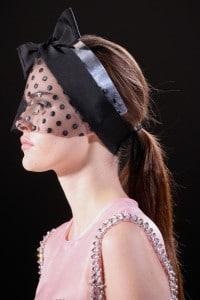 Veil Look - Giambattista Valli - Spring 2015 Model Vanessa Moody