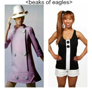 Post-Mod - reference to Courreges