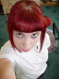 skin girl red hair